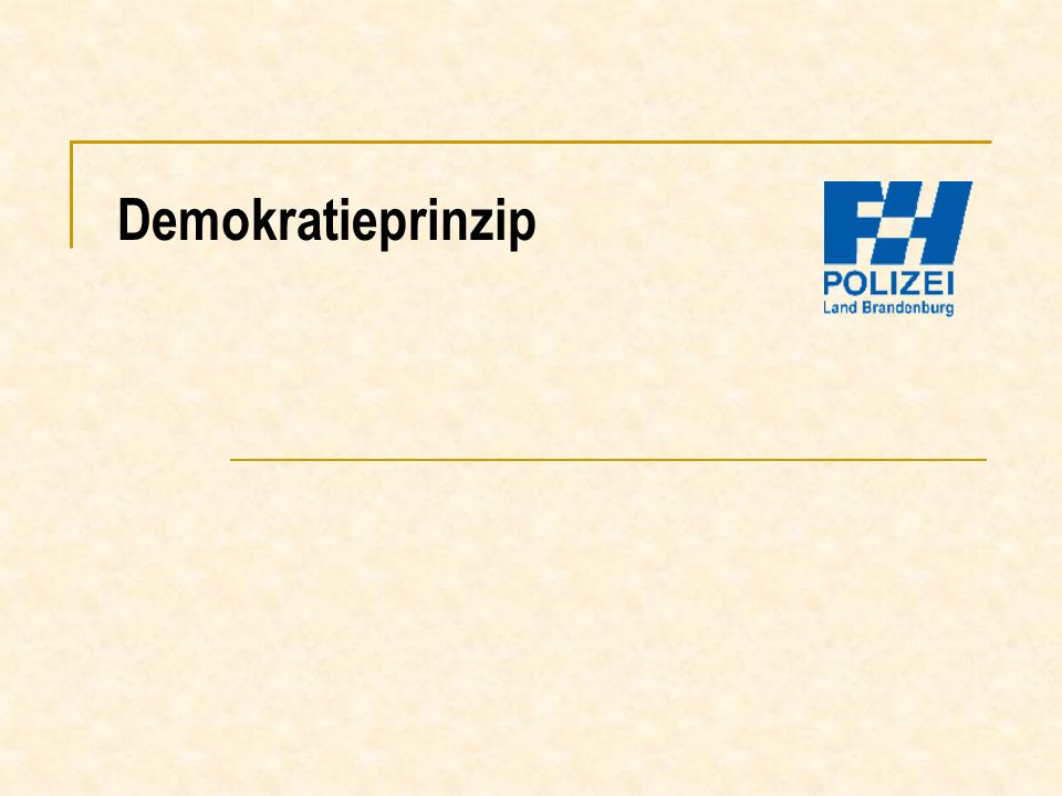 Demokratieprinzip