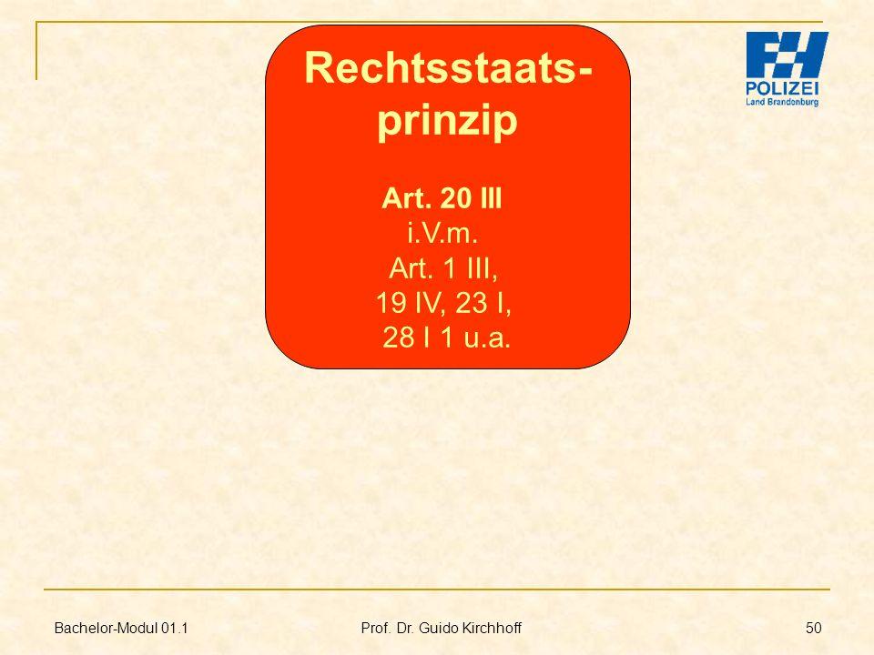 Rechtsstaats- prinzip