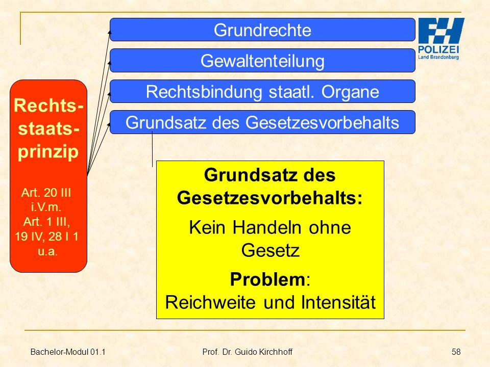 Rechts- staats- prinzip Grundsatz des Gesetzesvorbehalts: