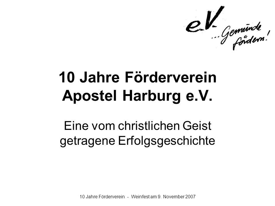 10 Jahre Förderverein Apostel Harburg e.V.