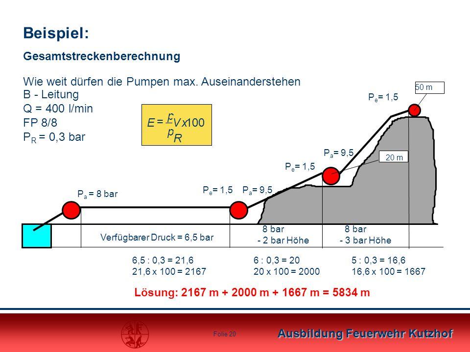 Beispiel: Gesamtstreckenberechnung