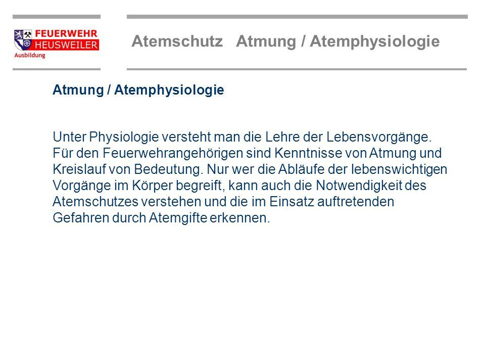 Atmung / Atemphysiologie