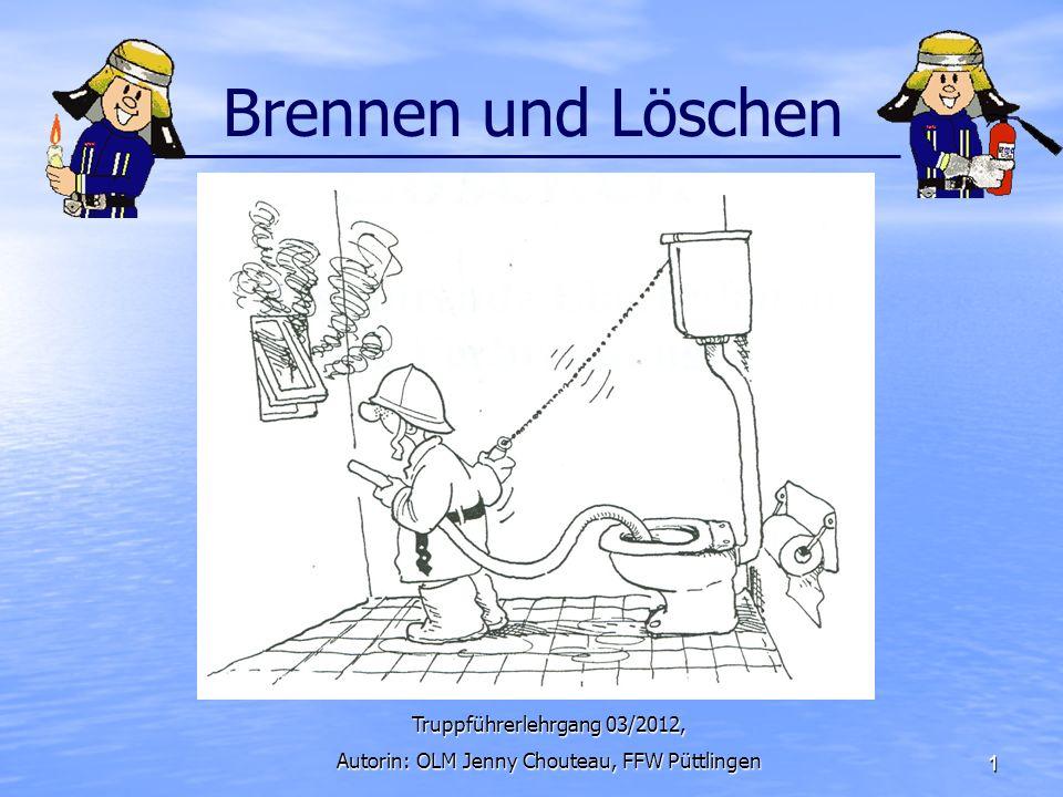 Brennen und Löschen Truppführerlehrgang 03/2012,