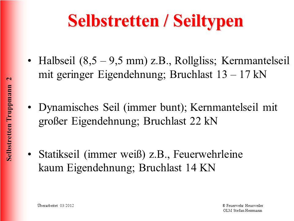 Selbstretten / Seiltypen