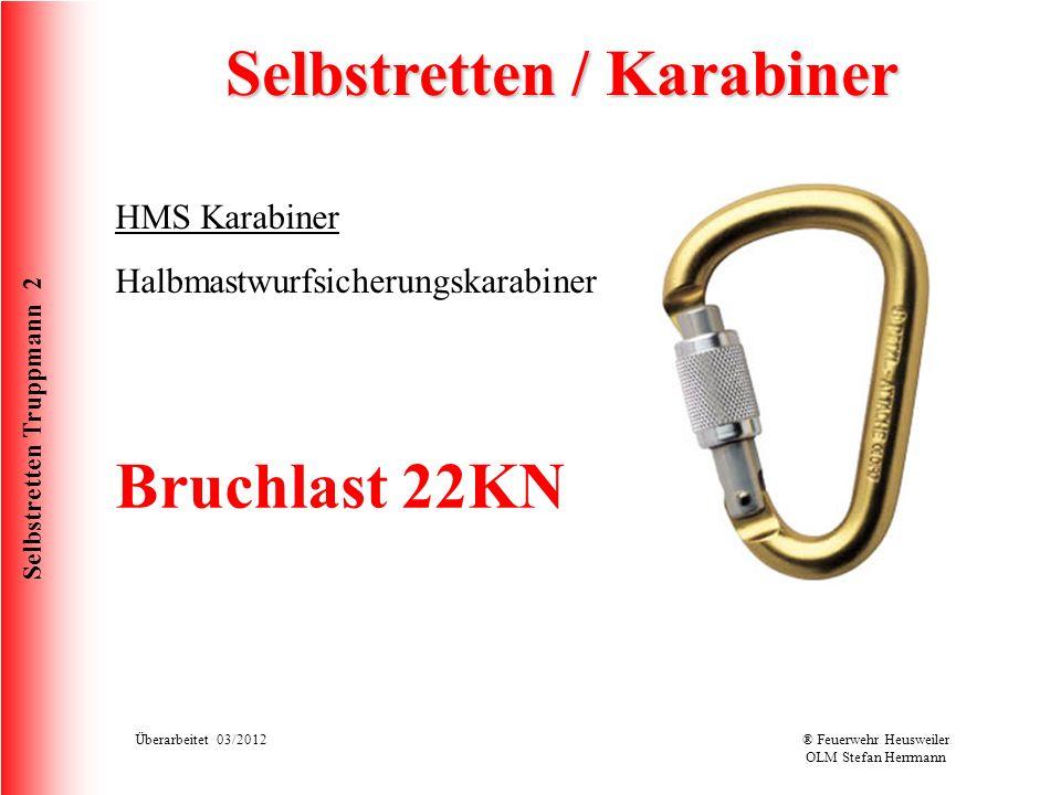 Selbstretten / Karabiner