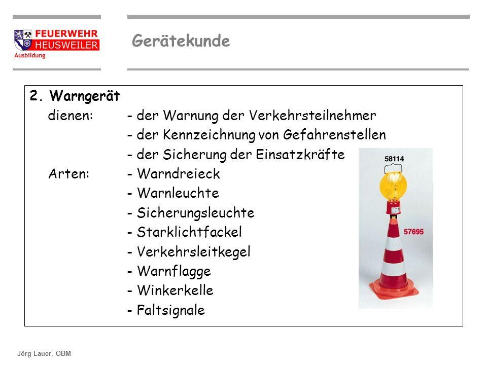 2. Warngerät dienen: - der Warnung der Verkehrsteilnehmer. - der Kennzeichnung von Gefahrenstellen.