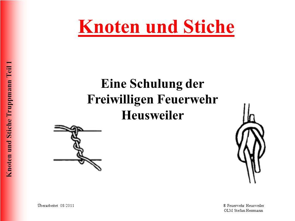 Eine Schulung der Freiwilligen Feuerwehr Heusweiler