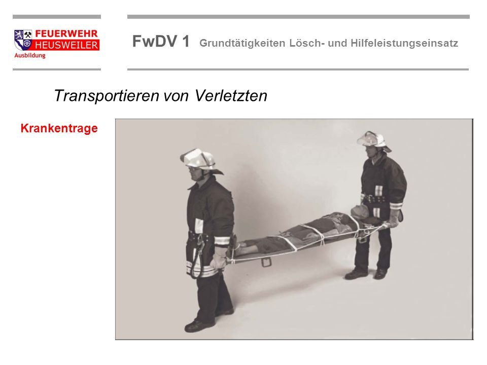 Transportieren von Verletzten