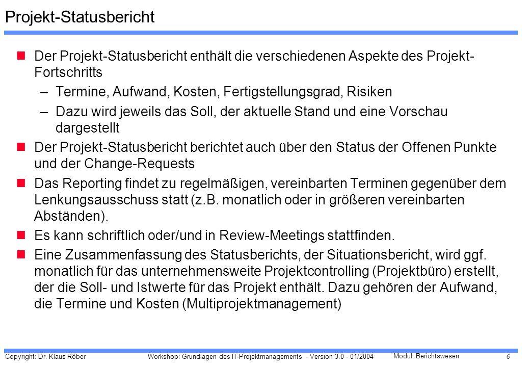 Projekt-Statusbericht