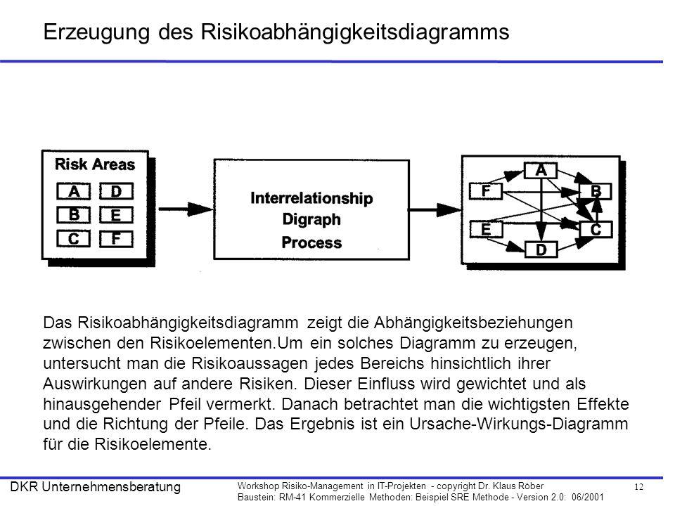 Erzeugung des Risikoabhängigkeitsdiagramms