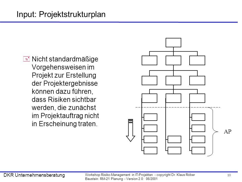 Input: Projektstrukturplan