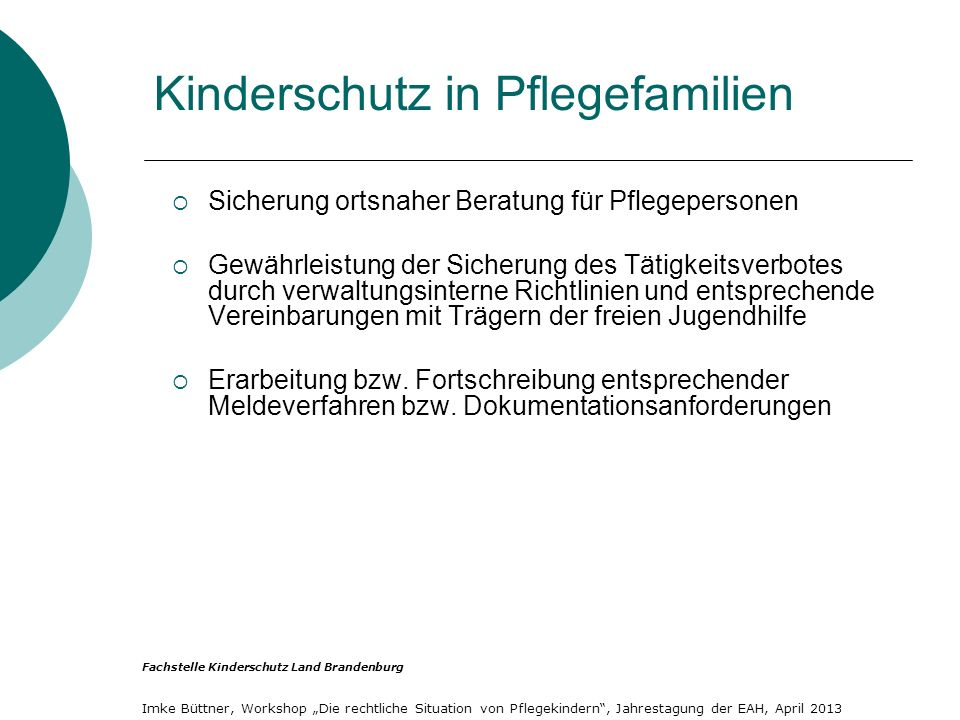 Kinderschutz in Pflegefamilien