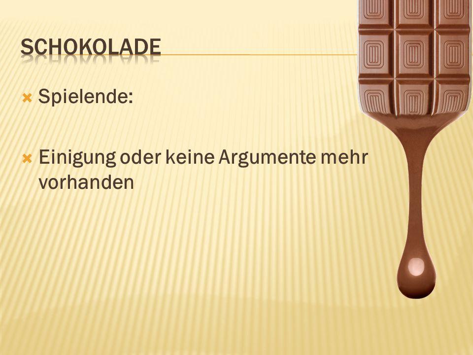 Schokolade Spielende: Einigung oder keine Argumente mehr vorhanden