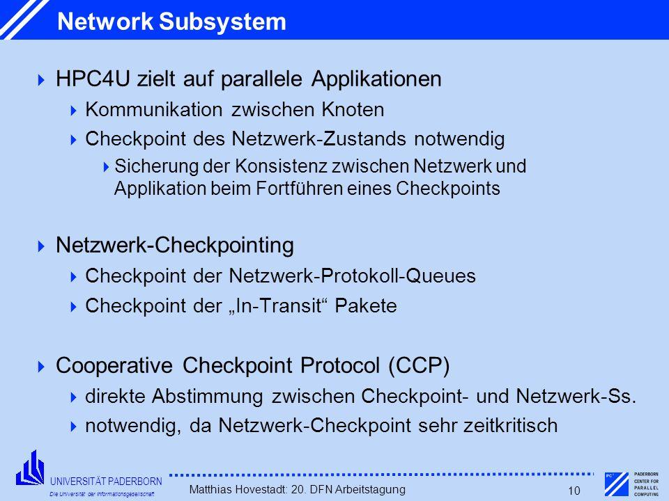 Network Subsystem HPC4U zielt auf parallele Applikationen