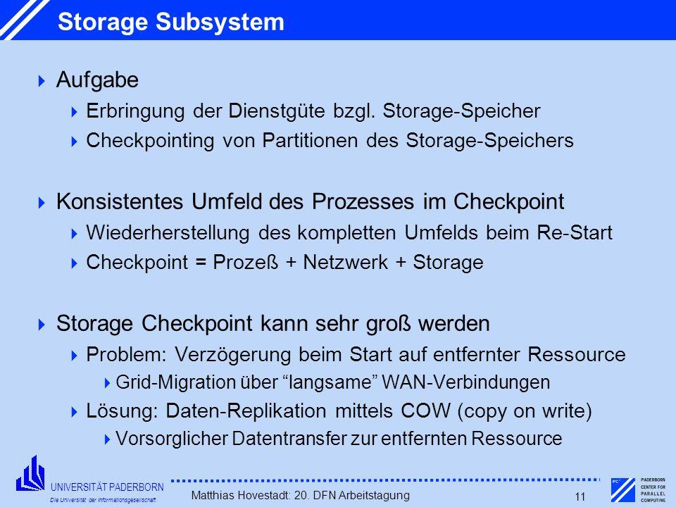 Storage Subsystem Aufgabe