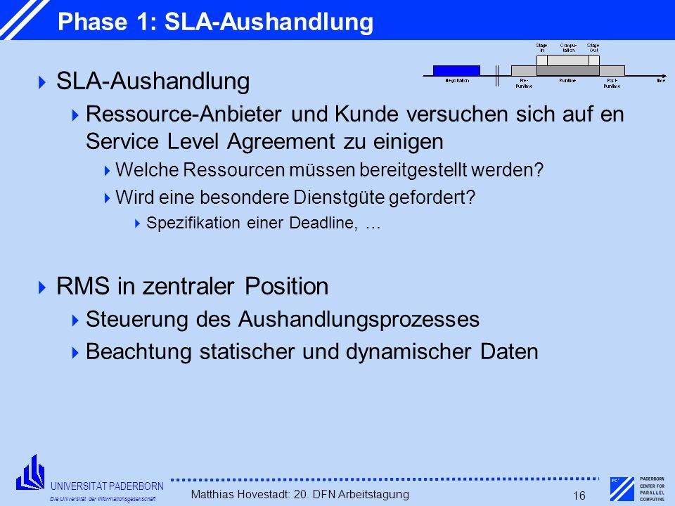 Phase 1: SLA-Aushandlung