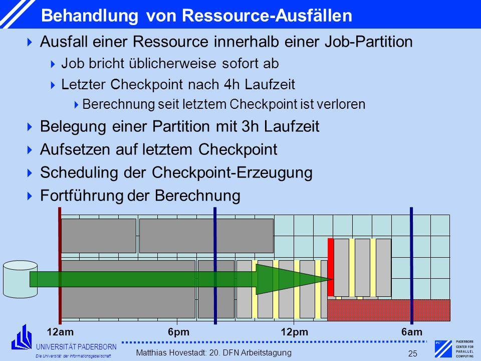 Behandlung von Ressource-Ausfällen