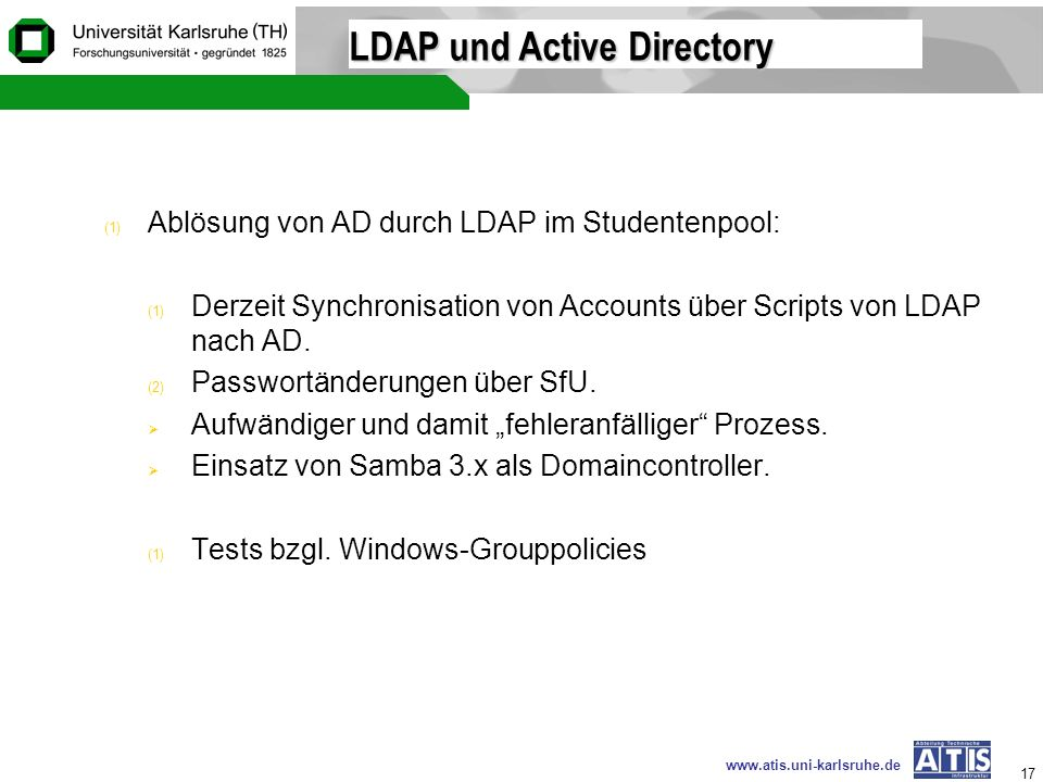 LDAP und Active Directory