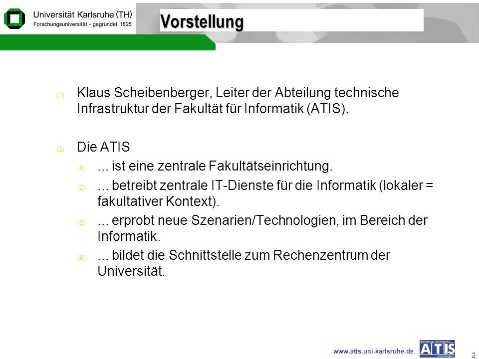 Vorstellung Klaus Scheibenberger, Leiter der Abteilung technische Infrastruktur der Fakultät für Informatik (ATIS).