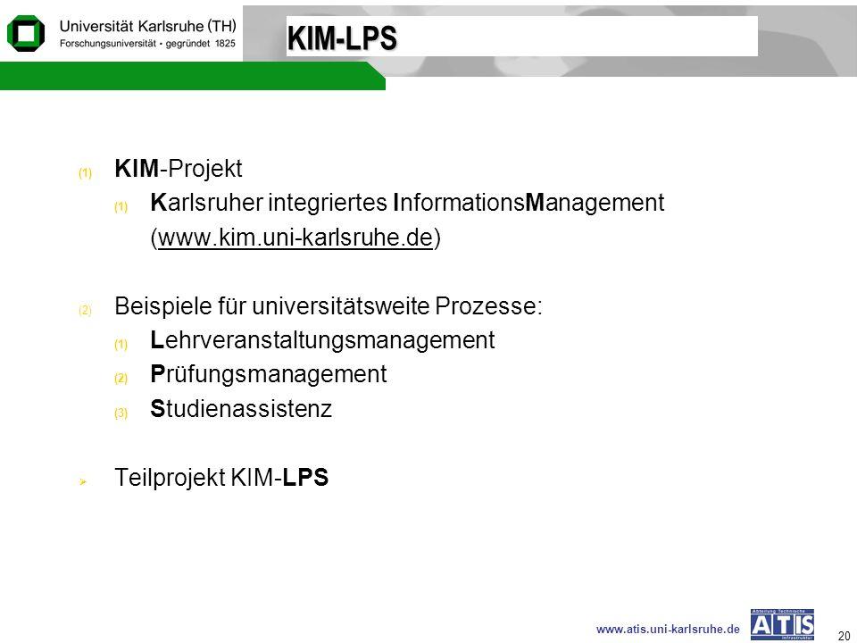 KIM-LPS KIM-Projekt Karlsruher integriertes InformationsManagement