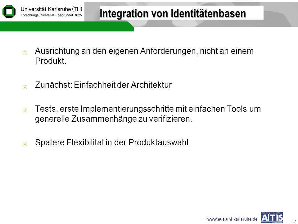 Integration von Identitätenbasen