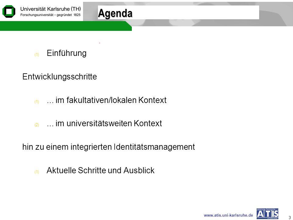 Agenda Einführung Entwicklungsschritte