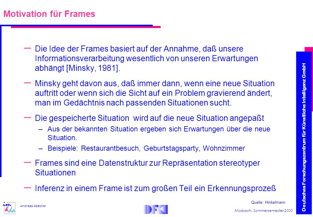 Motivation für Frames