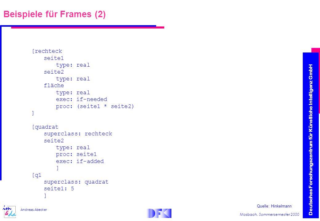 Beispiele für Frames (2)