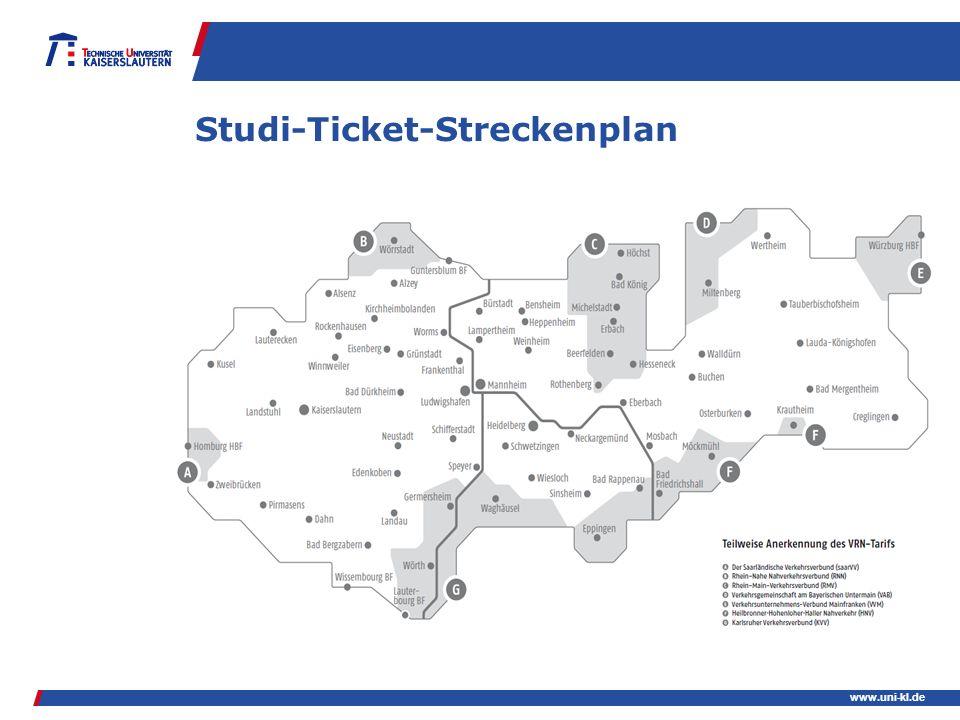 Studi-Ticket-Streckenplan