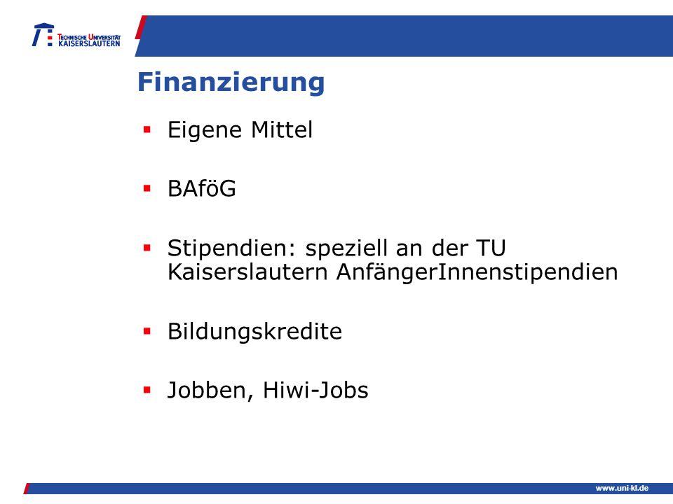 Finanzierung Eigene Mittel BAföG