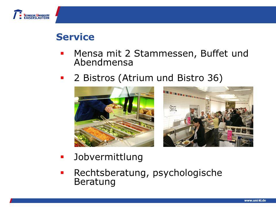 Service Mensa mit 2 Stammessen, Buffet und Abendmensa