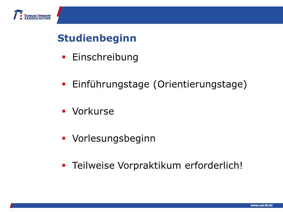 Studienbeginn Einschreibung Einführungstage (Orientierungstage)