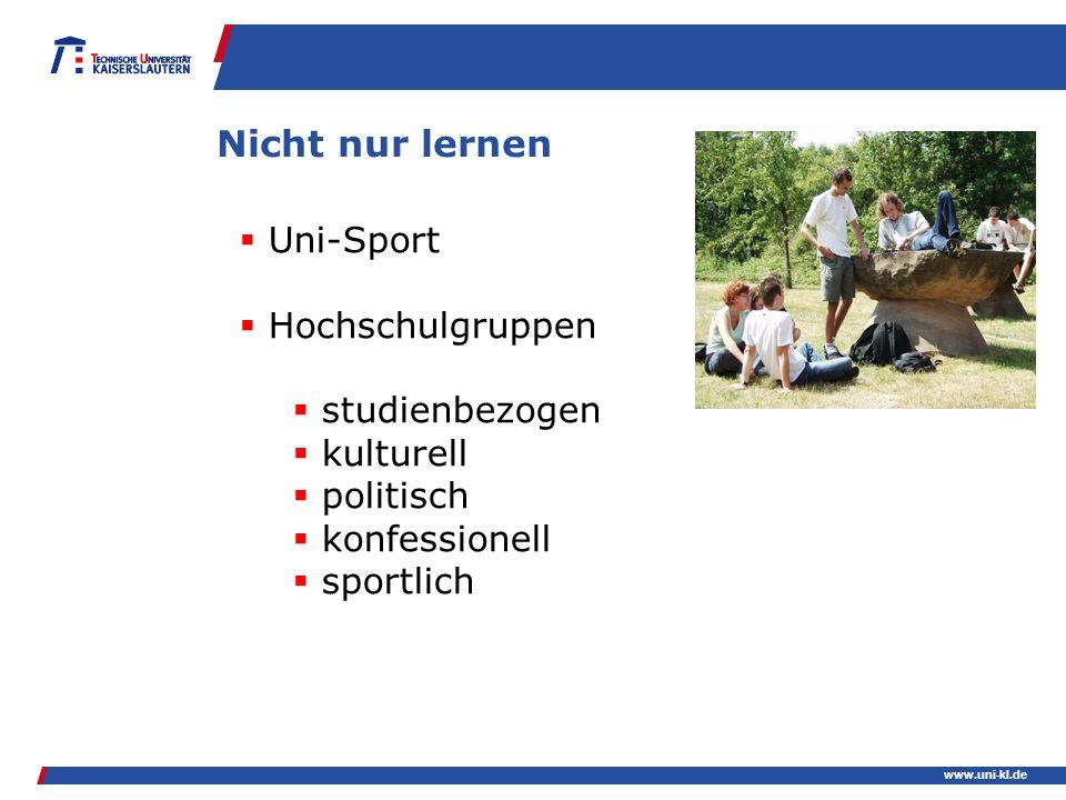 Nicht nur lernen Uni-Sport Hochschulgruppen studienbezogen kulturell