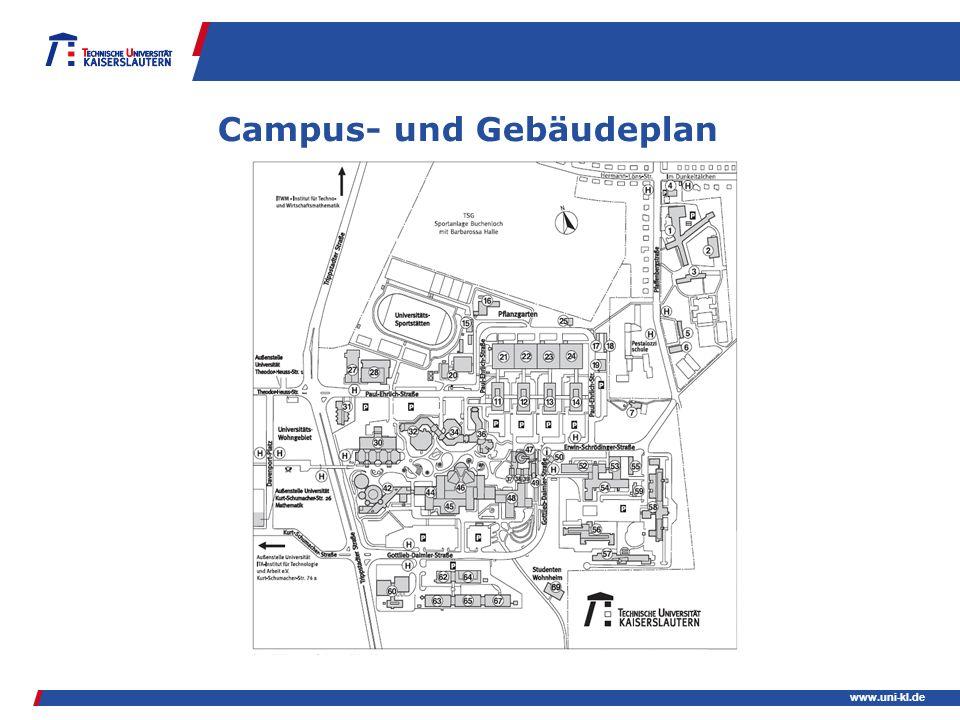 Campus- und Gebäudeplan