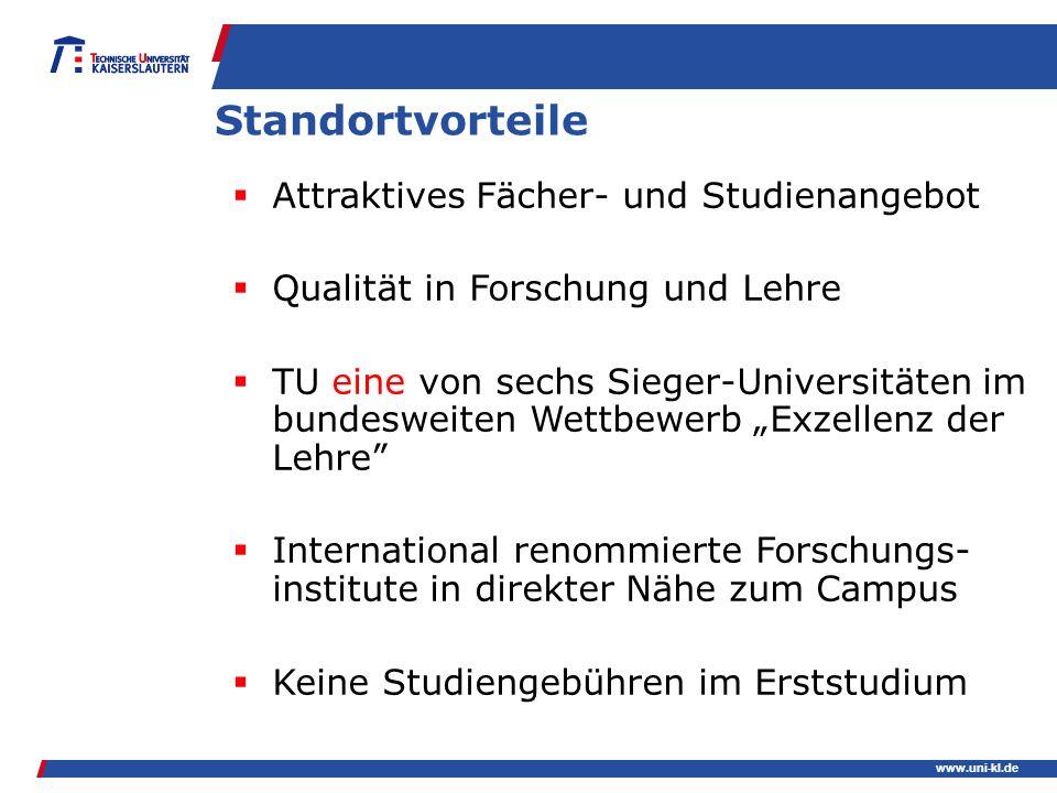 Standortvorteile Attraktives Fächer- und Studienangebot