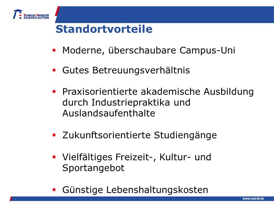 Standortvorteile Moderne, überschaubare Campus-Uni