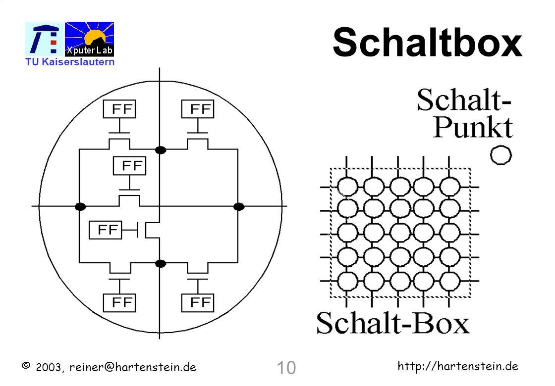 Schaltbox 10 10 © 2003, reiner@hartenstein.de http://hartenstein.de