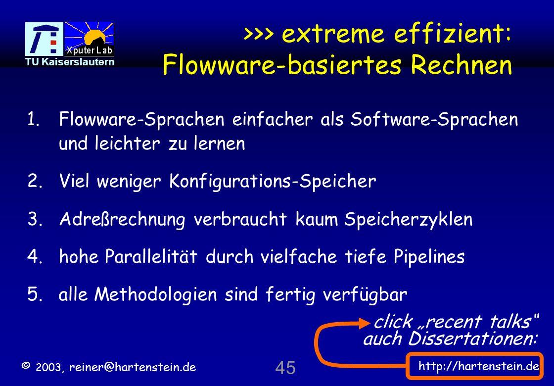 >>> extreme effizient: Flowware-basiertes Rechnen