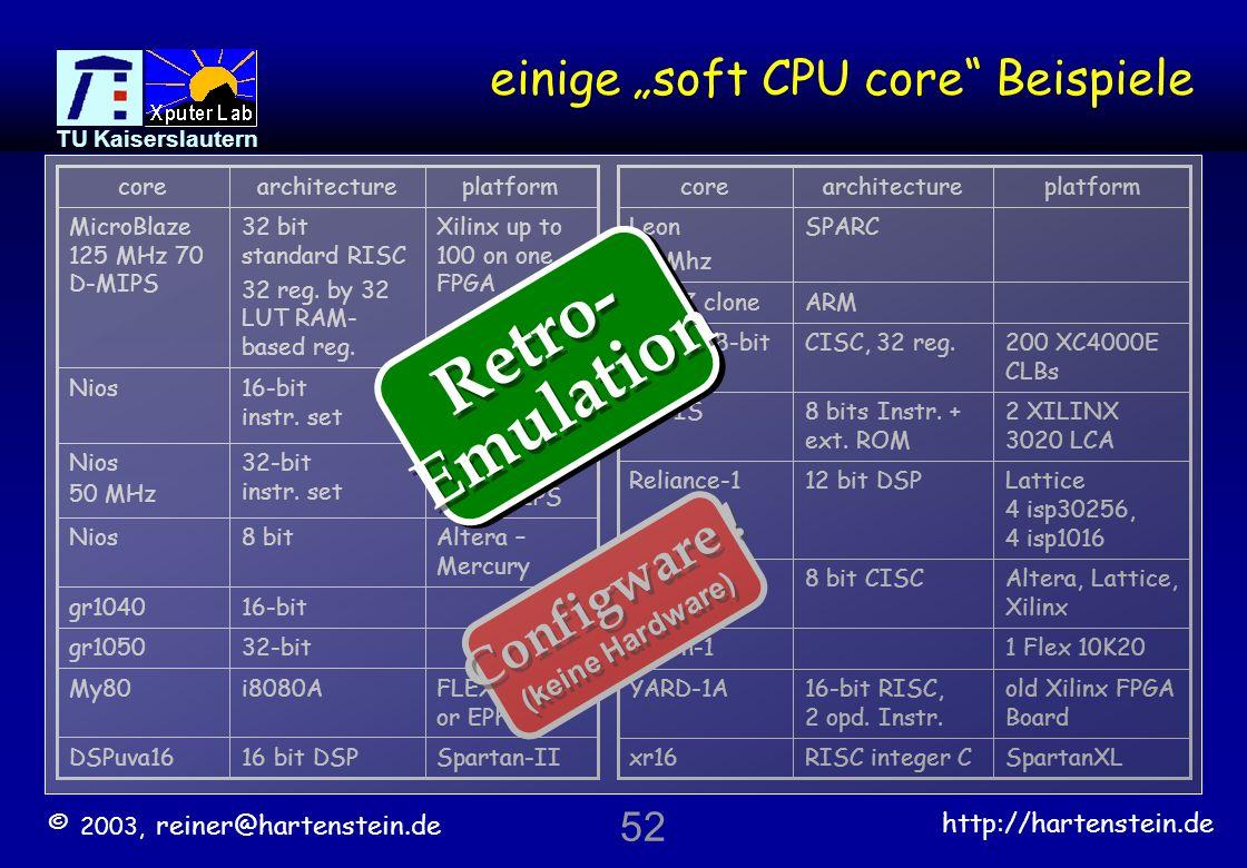 """einige """"soft CPU core Beispiele"""