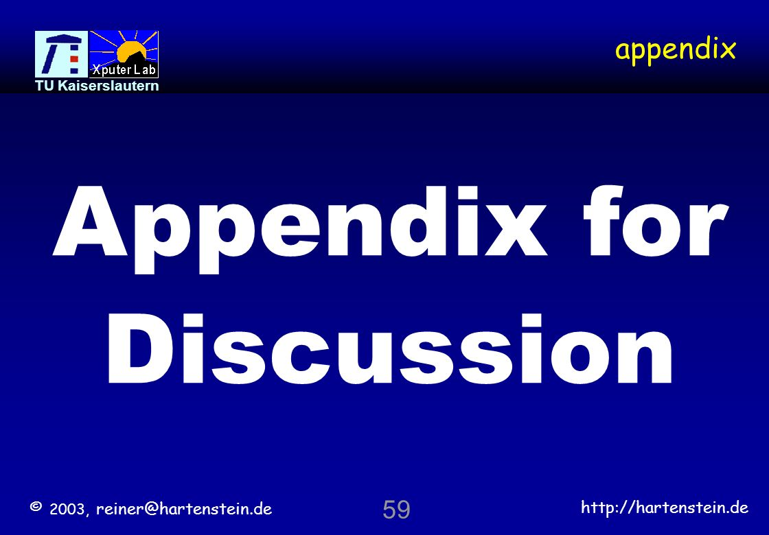 Appendix for Discussion