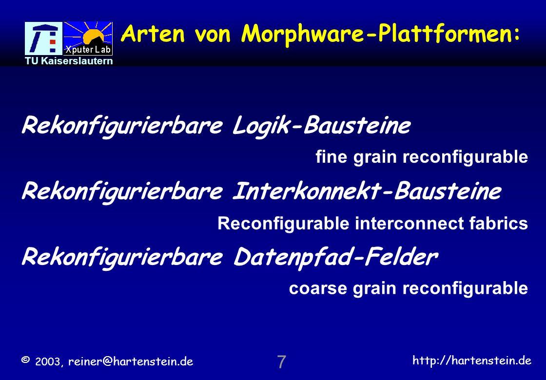 Arten von Morphware-Plattformen: