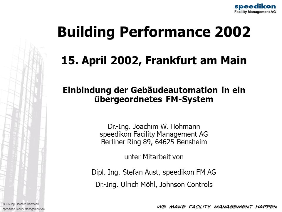 Building Performance 2002 15.