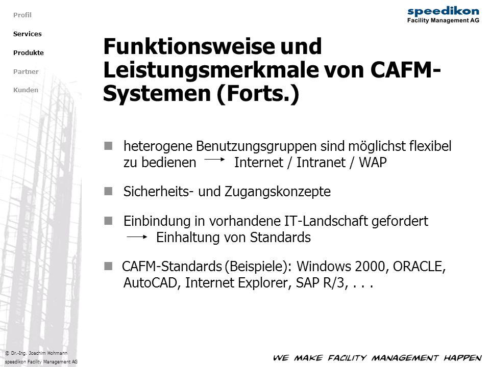 Funktionsweise und Leistungsmerkmale von CAFM-Systemen (Forts.)