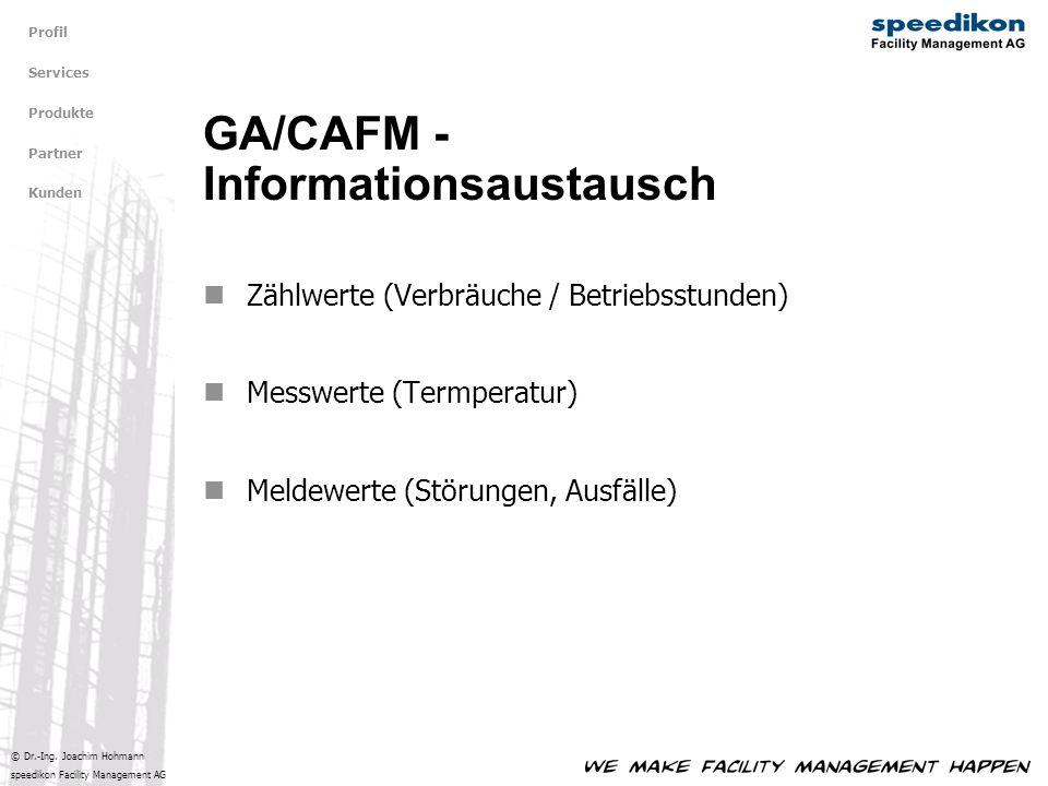 GA/CAFM - Informationsaustausch