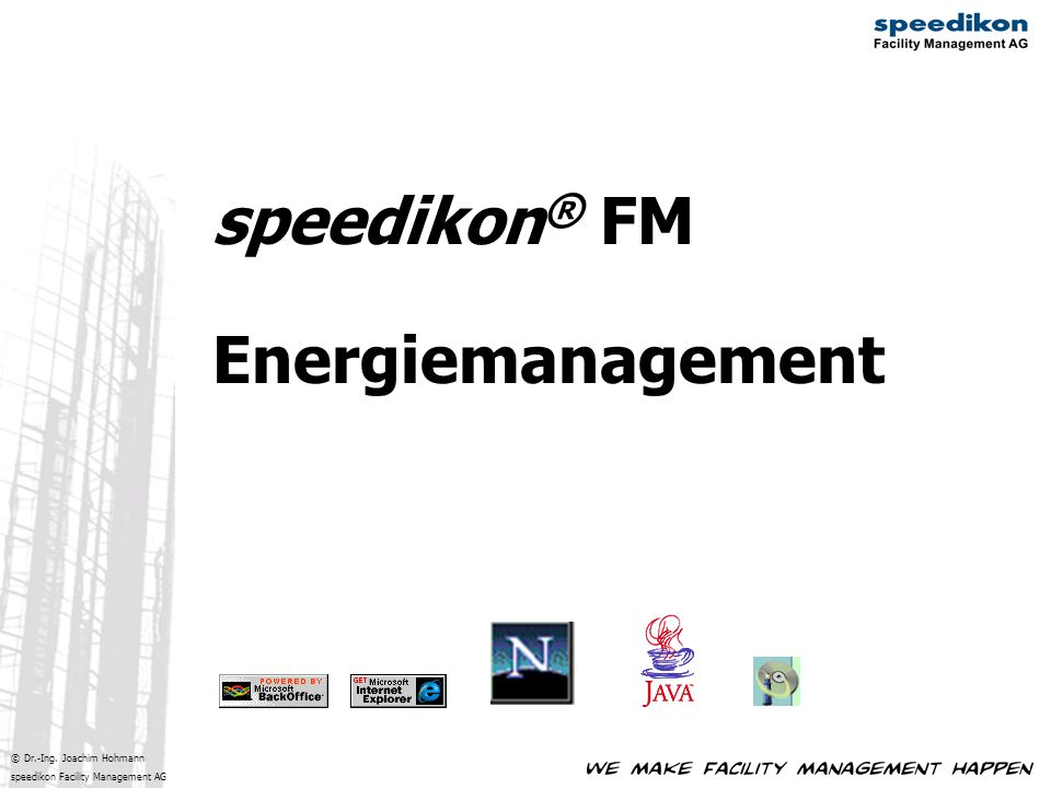 speedikon® FM Energiemanagement