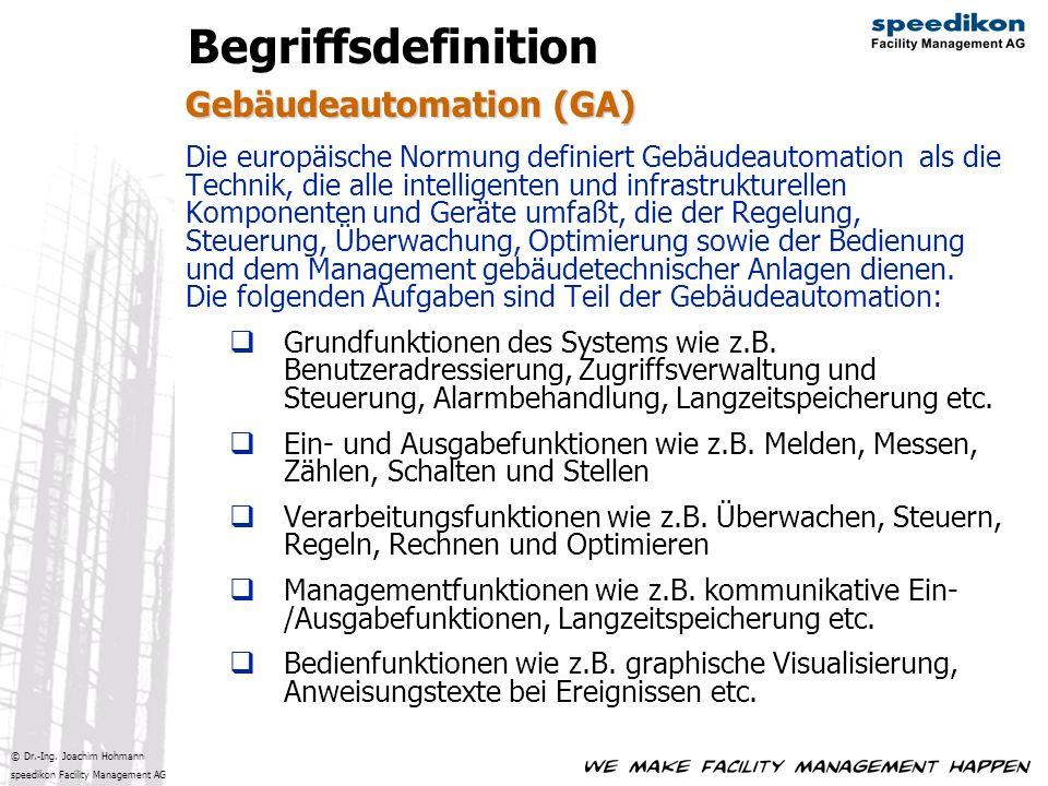 Begriffsdefinition Gebäudeautomation (GA)