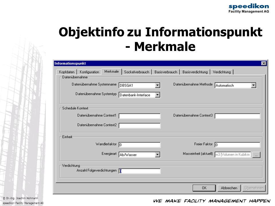 Objektinfo zu Informationspunkt - Merkmale