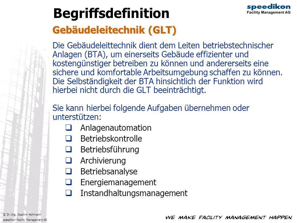 Begriffsdefinition Gebäudeleitechnik (GLT)