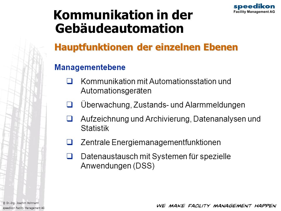 Kommunikation in der Gebäudeautomation
