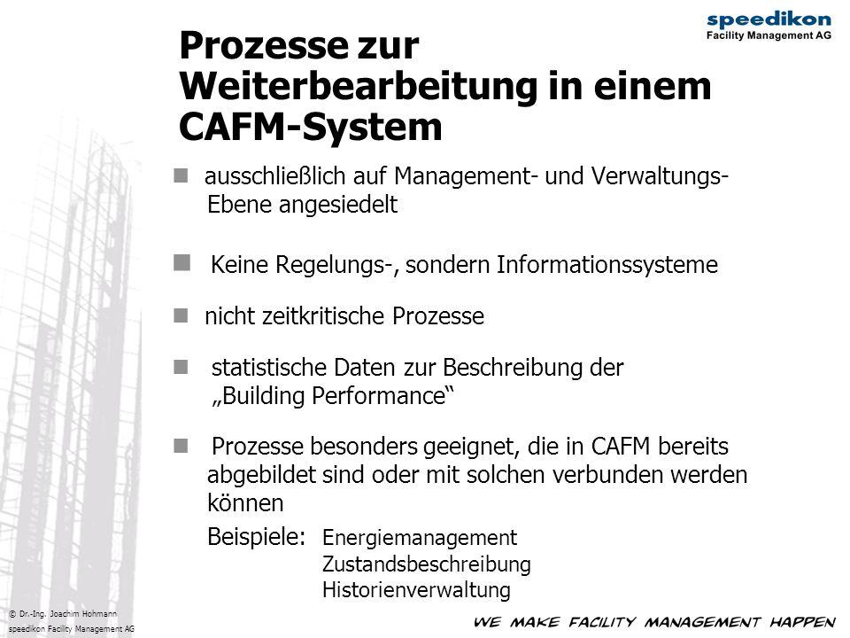 Prozesse zur Weiterbearbeitung in einem CAFM-System
